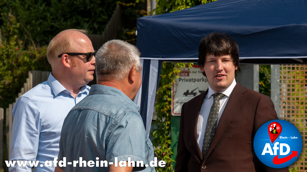 Infostand der AfD Rhein-Lahn in Nasstätten