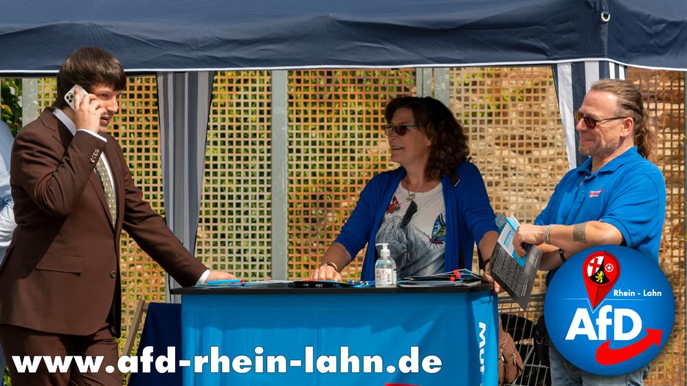 Infostand der AfD Rhein-Lahn in Nastätten